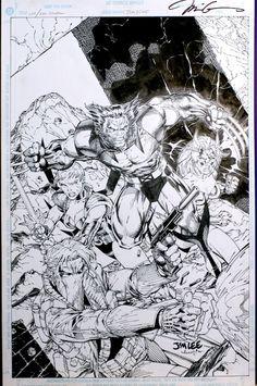 X-Men & Wildcats by Jim Lee