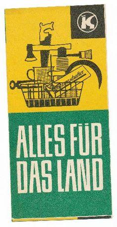 """DDR Museum - Museum: Objektdatenbank - """"Alles für das Land""""    Copyright: DDR Museum, Berlin. Eine kommerzielle Nutzung des Bildes ist nicht erlaubt, but feel free to repin it!"""