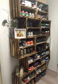 Wicked 20+ Creative Shoe Storage Ideas On A budget http://decorathing.com/storage-ideas/20-creative-shoe-storage-ideas-on-a-budget/