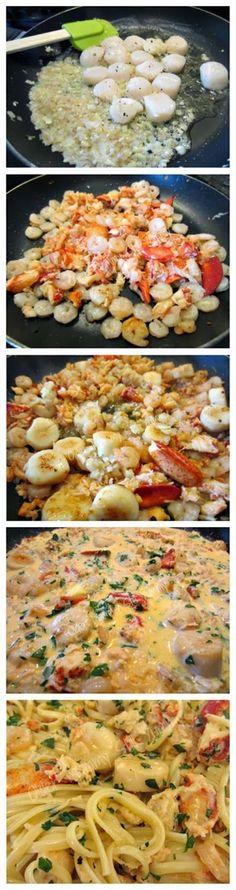 Seafood Linguine {Recipe} - Older Mommy Still Yummy