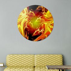 Discover «FireFight», Limited Edition Disk Print by Glink - From $65 - Curioos