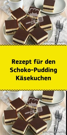 Recipe for the chocolate pudding cheesecake - NUR FÜR DICH - Kuchen Easy Cookie Recipes, Sweet Recipes, Snack Recipes, Chocolate Pudding, Chocolate Desserts, Pudding Desserts, Food Cakes, Ice Cream Recipes, Cheesecake Recipes