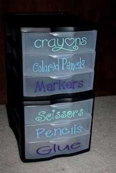 24 back to school organization ideas - school supply organizer school supplies organization, Organisation Hacks, School Supplies Organization, Craft Organization, Classroom Organization, Classroom Decor, Organization Ideas For The Home, Office Supplies, Kids Craft Storage, Organizing Crafts