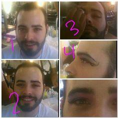 How to do a dramatic eye  1 start by applying false lashes  2 apply foundation  3 apply a smoky eye  4 apply winged eyeliner   5 ENjoy  By Sherian Jenkins