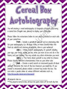 Cultural autobiography essay