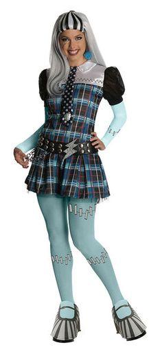 Naamiaisasu; Monster High Frankie Stein Deluxe. Naamiaisasu on lisensoitu Monster High Frankie Stein Deluxe -asu. Huomaathan, että voit täydentää asukokonaisuuden naamiaisasuun kuuluvalla peruukilla! Sisältää: - Mekon - Kravatin - Vyön - Sukkahousut - Kengänpäälliset