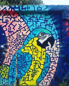 """No estoy enferma! estoy rota, pero estoy feliz de estar viva mientras pueda pintar"" #ara #parrot by @marko93darkvapor #marko93 #darkvapor #streetart #graffiti #graff #spray #bombing #wall #instagraff #streetartist #urbanart #urbanartist #streetartparis #parisgraffiti #graffitiwall #wallporn #wallpornart #streetarteverywhere #streetphoto #streetartandgraffiti #urbanwalls #graffart Rue de l'Ourq #paris"