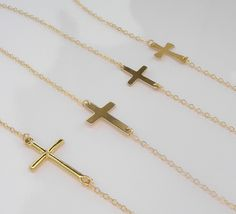Certified 10k Gold Simple Plain Cross Pendant Necklace Large