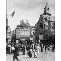 Paris, 1898-1900 - Place Saint-Medard by Eugene Atget Architecture Art Print