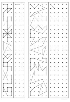 Mazes For Kids Printable, Printable Numbers, Maths Puzzles, Preschool Worksheets, Therapy Activities, Activities For Kids, Visual Perceptual Activities, Dots Game, Busy Book