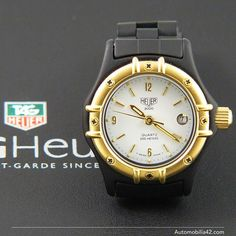 NOS Heuer 2000 Ladies watch 18K Gold plated/ Black PVD with a white dial 956.008 for sale on eBay now #heuer #2000 #ebay