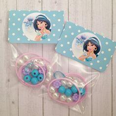 "8 - Jasmine Aladdin Birthday or Slumber Party Favor 16"" DIY Necklace Kits Jasmine Party Princess Jasmine Birthday Favors by MichelleAndCompany on Etsy"