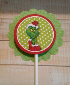 grinch cupcake topper printables. $4.00, via Etsy.