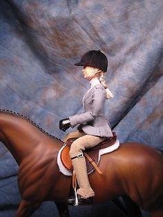 English rider doll for Breyer, Peter Stone, resin horse horses