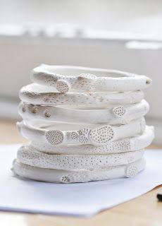 Porcelain rock coral bangles   Katherine Wheeler