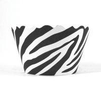 Cupcake Wrappers - Zebra (Black/White) Includes 12