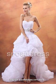 Bling Wedding Dresses High Low
