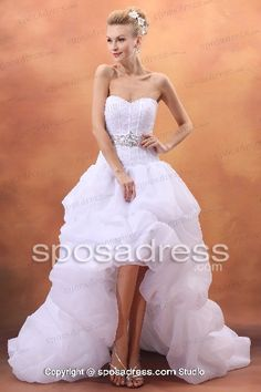 Charming Bubble Hem And Sweetheart Neckline For High-low Wedding Dress