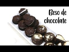 BESOS DE CHOCOLATE - YouTube Spanish Desserts, Cheesecakes, Oreo, Fondant, The Creator, Candy, Cookies, Make It Yourself, Baking