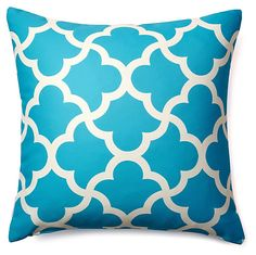 One Kings Lane - Bright Spots - Mirrored 20x20 Outdoor Pillow, Aqua