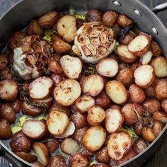Farmhouse Crispy-Creamy Potatoes, courtesy of chef Suvir Saran
