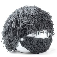 9.39$  Watch now - http://di85x.justgood.pw/go.php?t=146618203 - Stylish Men and Women's Woolen Yarn Imitated Wig Embellished Knitted Beanie