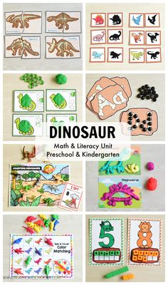 This DINOSAUR PRESCHOOL LEARNING PACK/MATH