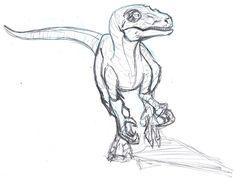 Velociraptor Sketch by ConstantM0tion.deviantart.com on @DeviantArt