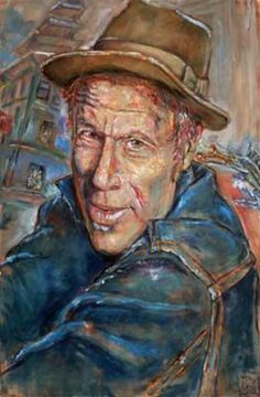 Tom Waits, 2002 by George Buck - Oil Painting