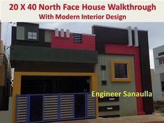 20 X 40 North Face House Walkthrough || 800 Sft North Face House Walkthrough - YouTube House Balcony Design, House Outer Design, House Arch Design, Single Floor House Design, House Outside Design, Village House Design, Column Design, Duplex House Design, Home Building Design