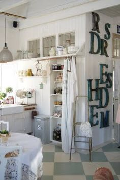 cute country kitchen.  I wouldn't add so many letters on the wall though