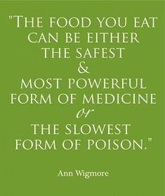 what is your food??? a medicine or a poison? #detox motivation!