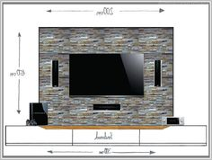 Wohnwand design stein  Steinwand Mediawand Eigenbau | Zimmer | Pinterest | Wand, TVs and ...