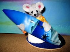 Surfing Mouse by atticmouse on Etsy, $12.00