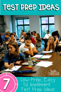 Test Prep doesn\'t have to be a boring, dull and monotonous day for you and your students. These quick and easy to implement ideas can take your day from drab to fab when you are preparing your students for upcoming testing season. Group work ideas, partner ideas and even whole class ideas are provided as well as great items for differentiation. #testprep #middleschool #math