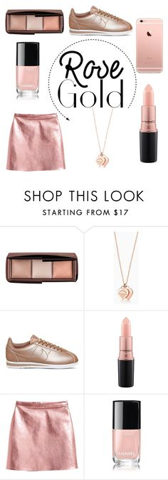 """Rose Gold - contest"" by newyorkcitygirl01 ❤ liked on Polyvore featuring Hourglass Cosmetics, Tiffany & Co., NIKE, MAC Cosmetics and Chanel"
