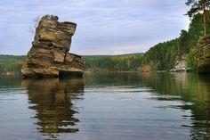 Иткуль- красивейшее озеро в Уральских горах. Опасный «Шайтан — камень»: