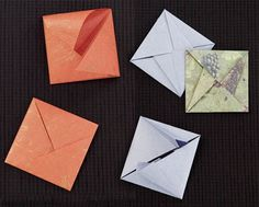 corrections for envelopes in Origami Card Craft