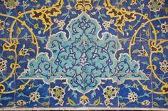 At the Sheikh Lotf Allah Mosque, Esfahan, Iran. Arabesque, Iranian Art, Islamic World, Islamic Art Calligraphy, Chair Covers, Ceramic Painting, Pattern Art, Ceramic Pottery, Mosaic Tiles