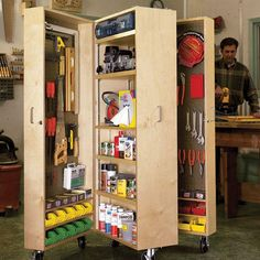 Buy Woodworking Project Paper Plan to Build Mobile Tool Cabinet at Woodcraft.com