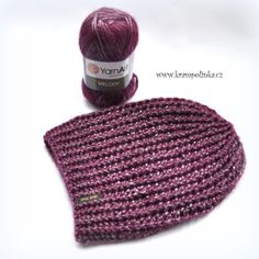 Homeleska Melody · Návody háčkování Krampolinka Crochet Cap, Knitted Hats, Winter Hats, Knitting, Beanies, Fashion, Scarves, Moda, Tricot