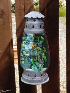 Fish aquarium lantern