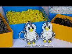 Rainbow loom charm animal owl. Tutorial in french