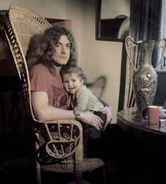 Robert Plant with daughter Carmen