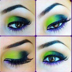 Lime, Black with Violet