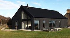 Metal-clad Eco Cottage puts a modern spin on Irish rural architecture Modern Bungalow House, Bungalow Exterior, Rural House, Modern Tiny House, Country Modern Home, Modern Cottage, Country Living, House Designs Ireland, Irish Cottage
