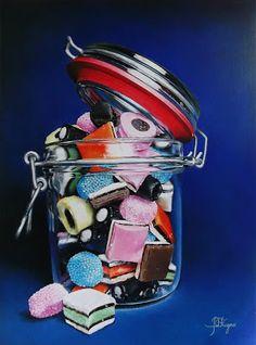 Jess Fragoso Schilderijen: ENGELSE DROP
