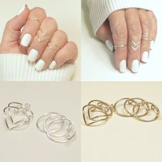 Usa Set Fashion Women Gold Silver Above Knuckle Finger Ring Band Midi Rings Gold Diamond Wedding Band, Rose Gold Engagement Ring, Vintage Engagement Rings, Diy Vintage Rings, Set Fashion, Fashion Women, Fashion Jewelry, Style Fashion, Fashion Trends