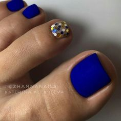 Matte Blue Nails ★ Explore trendy and classy, cute and elegant toe nails designs for summer and beach vacation. You will love our easy ideas. Creative Nail Designs for Short Nails to Create Unique Styles. Pretty Toe Nails, Cute Toe Nails, My Nails, Gel Toe Nails, Acrylic Nails, Gel Toes, Coffin Nails, Gelish Nails, Nice Nails