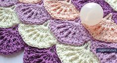 MyPicot | Free crochet patterns Textured Shell Pattern